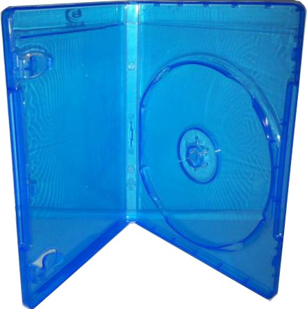 Blu-Ray Case - Light Blue Single 12mm With Clips from Am-Dig