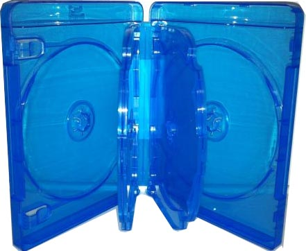 Blu-Ray Case - Light Blue 5 Disc Holder 22mm from Am-Dig