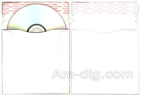 CD/DVD Cardboard Mailer -  5.25 x 5.25 Size from Am-Dig