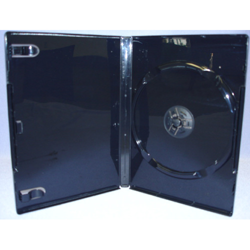 DVD Case - Glossy Black Single 14mm Virgin Grade from Am-Dig