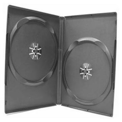 DVD Case - Black Double 14mm - Offset Recycle from Am-Dig