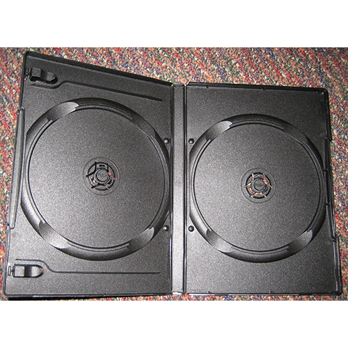 DVD Case - Black Virgin Grade Double Black 14mm Sp from Am-Dig