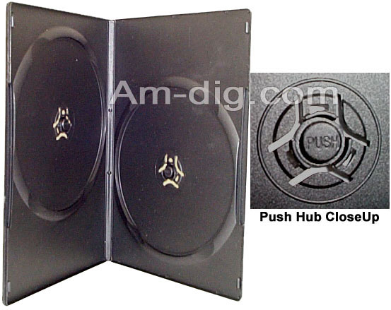 DVD Case - Black Double 7mm Super Slim from Am-Dig