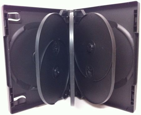 DVD Case - Black Eight Disc Holder from Am-Dig