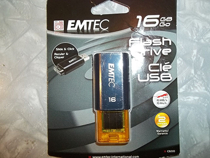 EMTEC EKMMD16GC600: 16GB Flash Drive C600 USB 2.0 from Am-Dig
