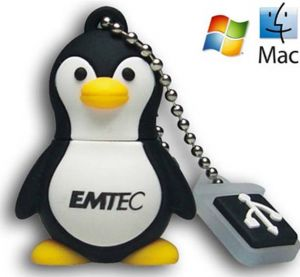 EMTEC EKMMD8GM314: Penguin Flash Drive 8GB  from Am-Dig