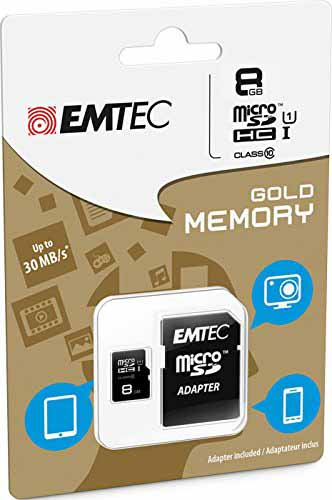 EMTEC ECMSDM8GHC10: Micro-SDHC 8GB Class-10 from Am-Dig