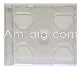CD Tray Part - Clear Double (No Case Shell) from Am-Dig