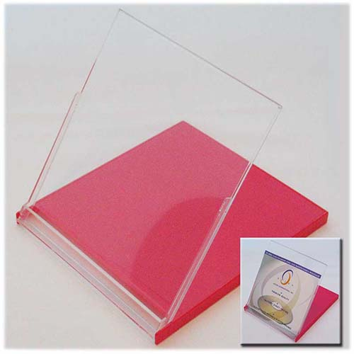 Calendar Case - 5.25'' CD Jewel Style Clear/Red from Am-Dig