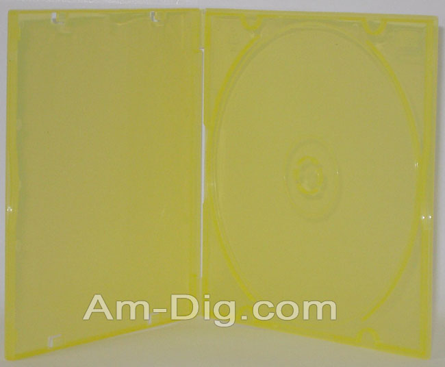 CD Case - Poly MaxiSlim Colors - Yellow Single from Am-Dig