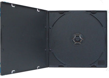 CD Case - Poly MaxiSlim 5.2mm - Black Single from Am-Dig