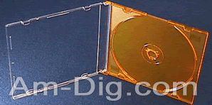 CD Jewel Case - MaxiSlim Colors - Orange Single from Am-Dig