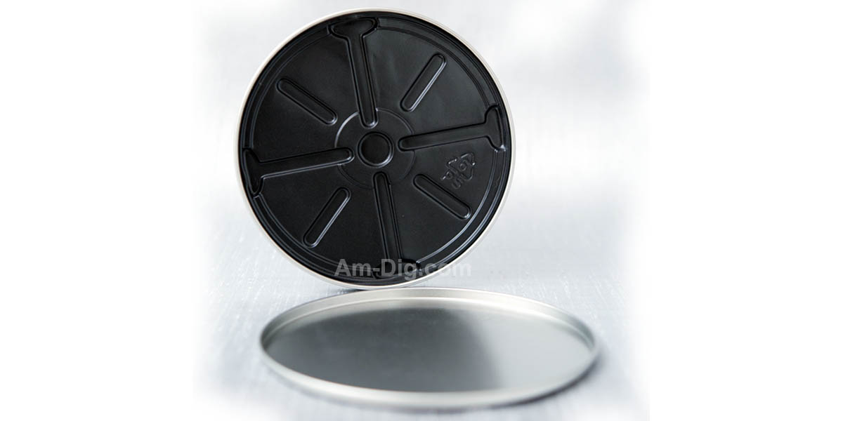 Images of the Tin CD/DVD Case Round Shape no Hinge no Window