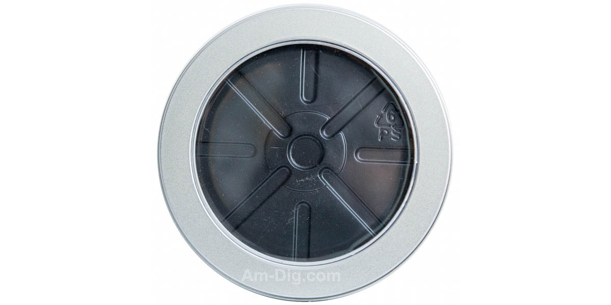 Tin CD/DVD Case Round Shape no Hinge with Window - Front View