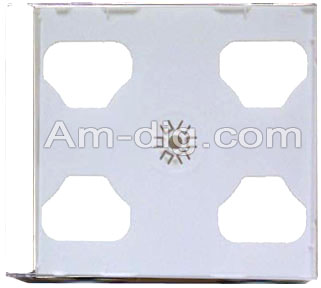 CD Jewel Case - White Double 10mm Assembled from Am-Dig