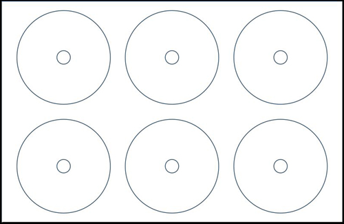 Klone 30830D: 6-UP CD Label Sheets 11x17 Sheets from Am-Dig