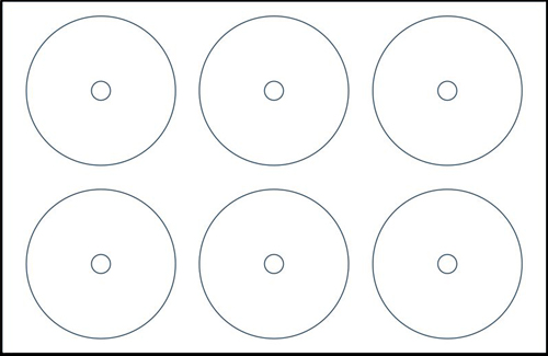 Klone 40000D: 6-UP CD Label Sheets 11x17 Sheets from Am-Dig