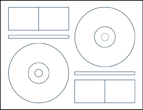 Klone 60000C: 2-UP CD Label Sheets for Memorex  from Am-Dig