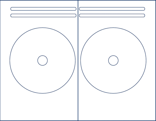 Klone 62300C: 2-UP CD Label Sheets for Avery  from Am-Dig