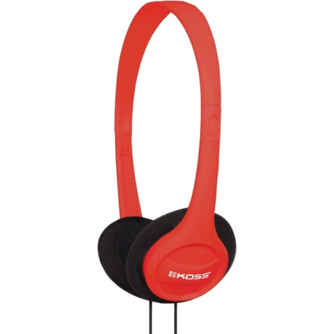 Koss Headphone, KPH7R, Portable On Ear, Red, 4ft Cable