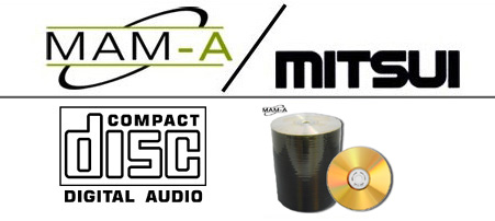 MAM-A 11338: GOLD CD-R DA-74 No Logo in 100-Stack from Am-Dig