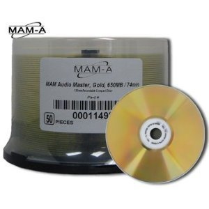 MAM-A 11498: GOLD CD-R No Logo Pro Audio Master from Am-Dig