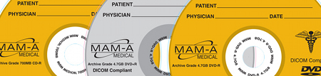 MAM-A 163197: Medical DVD-R 4.7GB Logo Jewel Case from Am-Dig