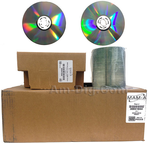 MAM-A 41044: CD-R 700MB No Logo Silver 100-Stack from Am-Dig