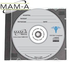 MAM-A 43758: Medical CD-R 700MB Logo in Jewel Case from Am-Dig