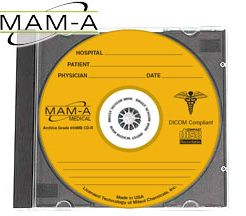 MAM-A 45214: GOLD 650MB Medical CD-R Jewel Case from Am-Dig