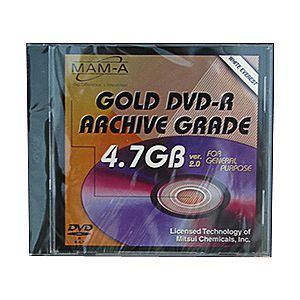 MAM-A 83482 GOLD DVD-R 4.7GB Everest White in Case from Am-Dig