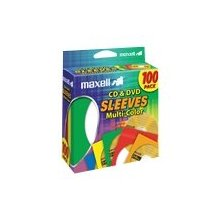 Maxell CD/DVD Sleeves, Multi-Color, 100pk