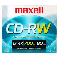 Maxell Disc CD-R/W 80 min Branded Slim Case
