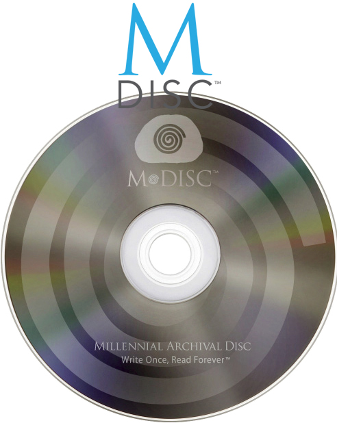 M-Disc DVD+M 4.7GB 1000 Year Disc Logo Top Surface from Am-Dig