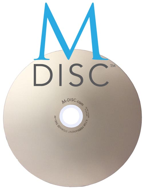 M-Disc DVD+M 4.7GB 1000 Year Disc InkJet Printable from Am-Dig