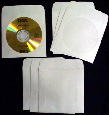 CD/DVD Sleeve - White Paper with Flap & Window from Am-Dig