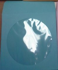 CD/DVD Sleeve - Sky Blue Paper with Flap & Window from Am-Dig