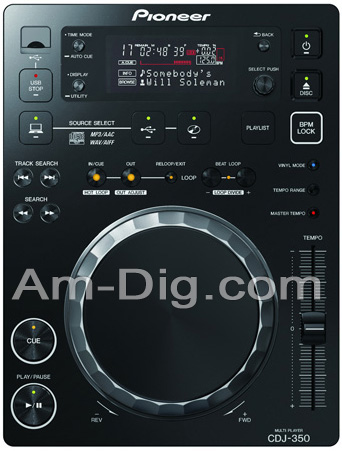 Pioneer CDJ-350: Digital Media Player - Black from Am-Dig