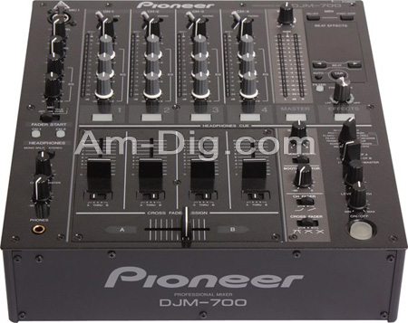 Pioneer DJM-700-K: Pro DJ Mixer - 4 Channel (Black from Am-Dig