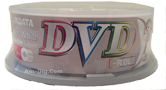 Ridata/Ritek 4x Dual Layer InkJet White DVD-R from Am-Dig