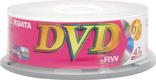 Ridata/Ritek 6x DVD-RW Branded in Cakebox from Am-Dig