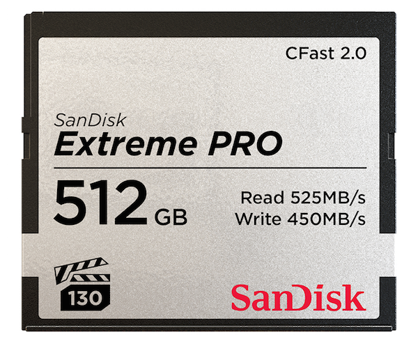 You may also be interested in the SanDisk SDCFSP-256G-A46D Extreme Pro CFast 2.0 ....