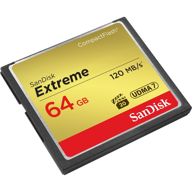 SanDisk SDCFXS-064G-A46 Extreme CompactFlash Memory Car