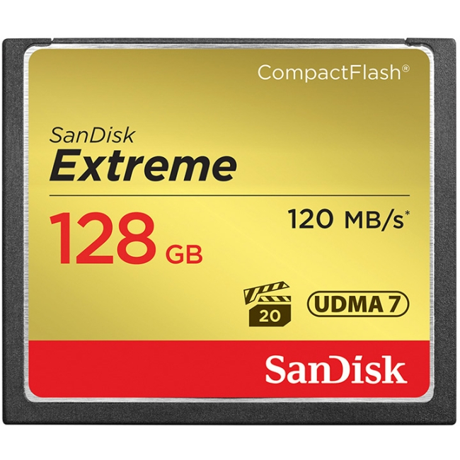 SanDisk SDCFXS-128G-A46 Extreme CompactFlash Memory Car