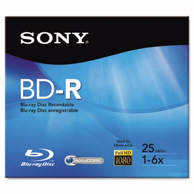 Sony Bnr25R2H Bd-R Recordable Disc 25GB 2X from Am-Dig