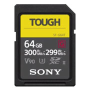 Sony SF-G64T/T1 Memory Card 64GB UHS-II TOUGH SDXC CL10 V90 U3 Max R300MB/s W299MB/s from Am-Dig