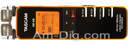 Tascam DR-08 Portable Digital Recorder from Am-Dig