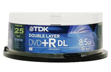 TDK Dual Layer DVD+R 8X Cakebox from Am-Dig