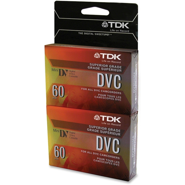 TDK 38630 Video DVC Mini Digital 60 minute 2pk w/ Hangt