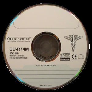 TDK CD-R 80 min, MEDICAL Grade, 700MB, Silver Thermal P
